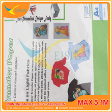 TRANSFER PAPER LASER A3  LIGHT COLOR